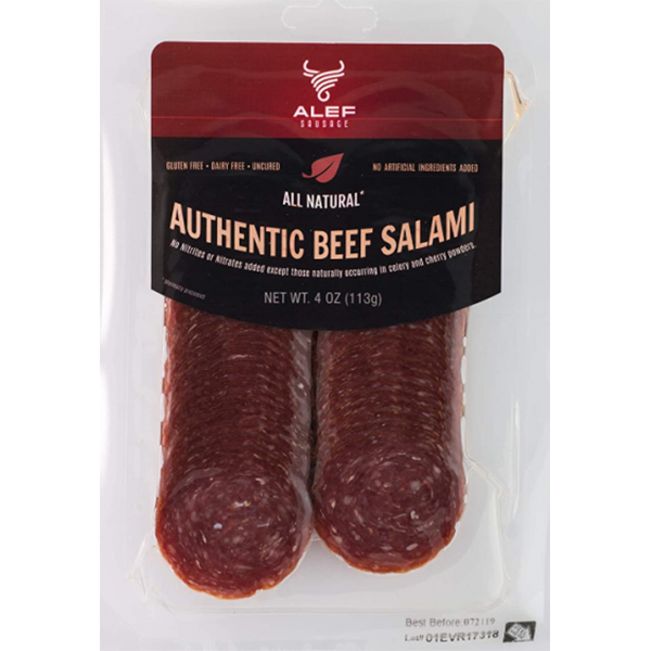 """""""Authentic Beef"""" Dry Salami Sliced #5201"""