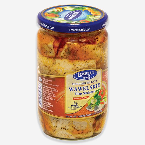 Herring Fillet with Red Pepper and Onions - Wawelskie (Lowell), 650Gr (22.92oz) 1cs x 6ea